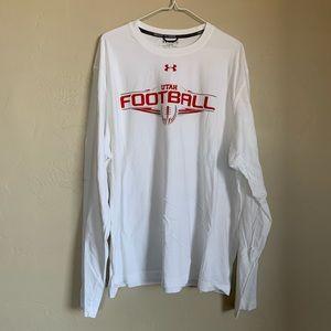 NWOT Under Armour Utah Fottball long sleeve tshirt